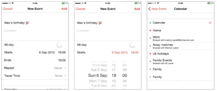 Organise with Calendar IOS 9 Iphone 6S