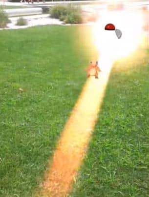 lancio poke ball per catturare il pokemon