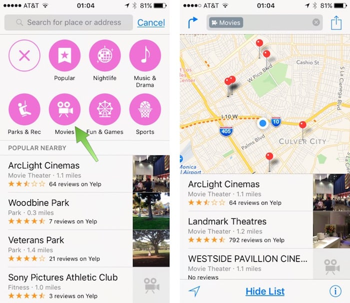 How to navigate in Maps IOS9 Iphone 6S
