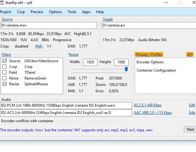 software encoding prores windows