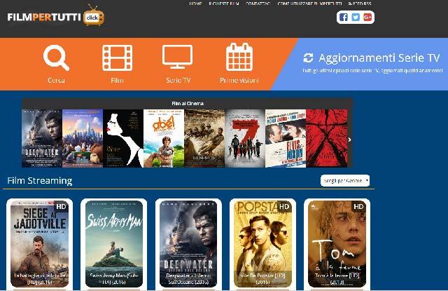 lista siti scaricare film gratis : FILMPERTUTTI