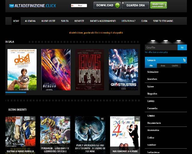 sito dove scaricare film in HD : ALTADEFINIZIONE