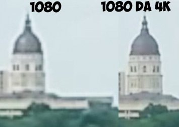 differenza 1080 ridimensionato da 1080 nativo