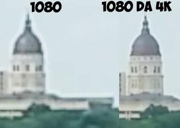 differenza 1080 ridimensionato da 1080 nativo