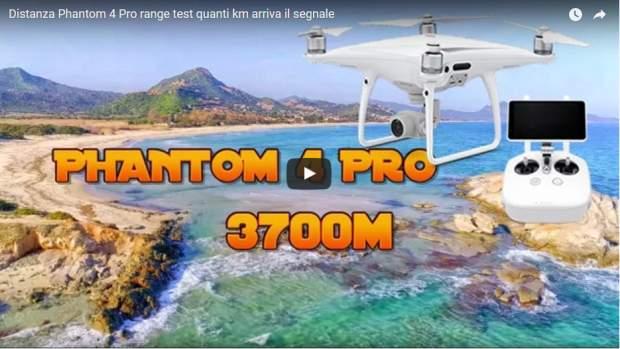Test segnale range distanza Phantom 4 Pro