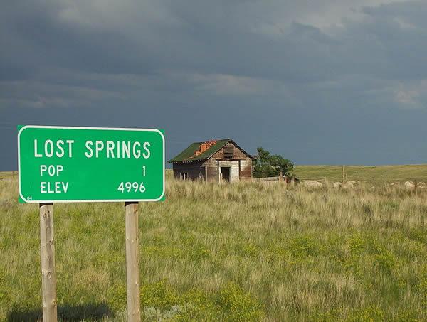 Lost Springs, nella Contea di Converse, nel Wyoming