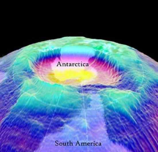 le perdite di ozono dall' emisfero nord sono inferiori a quelle dell' emisfero sud