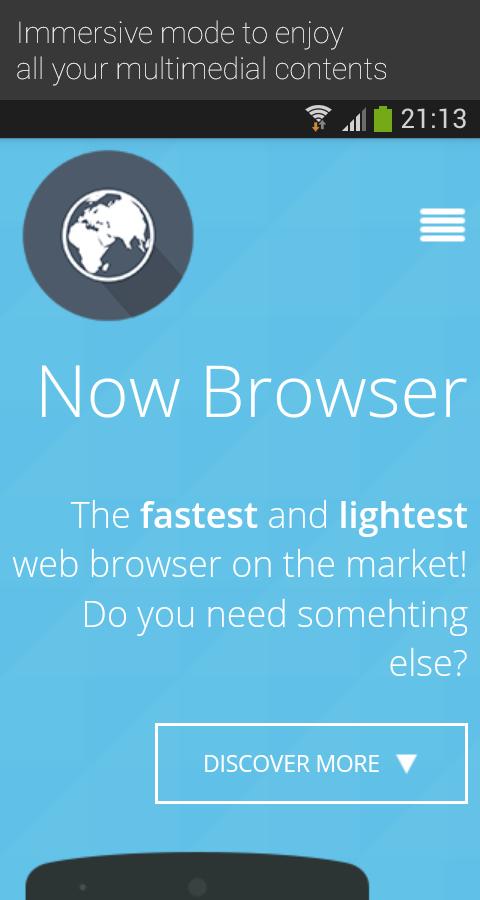 il browser android leggero meno ram