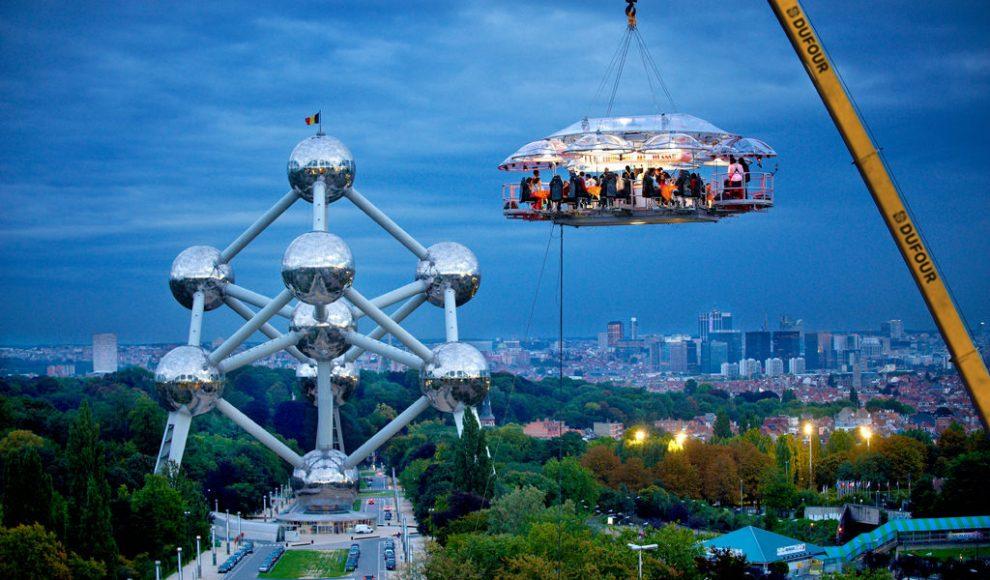 Cenare a 50m di altezza (Brussels, Belgium)