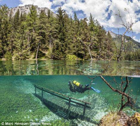 Il Parco Sommerso dall'acqua Green Lake (Grüner See) in Austria