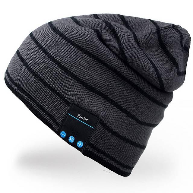 Cuffia termica in lana aderente con auricolari per l'inverno