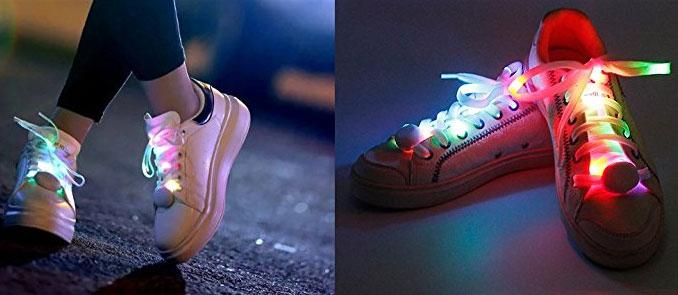 Lacci per scarpe luminosi per correre al buio