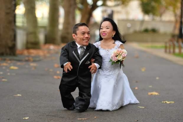 coppia di sposi più piccola del mondo