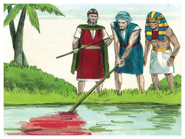acque del Nilo diventano sangue
