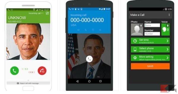 come simulare finta chiamata sms