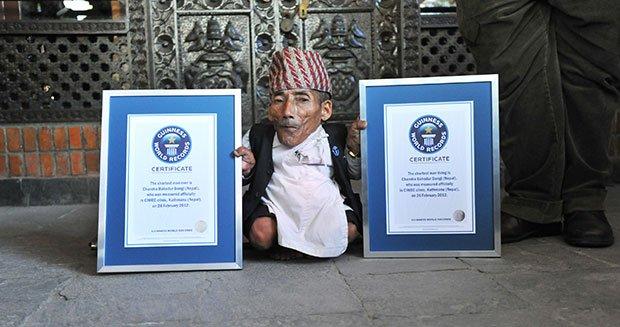 L'uomo più piccolo del mondo e della storia: Chandra Bahadur Dangi 21cm e mezzo