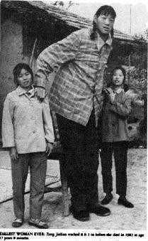 zeng jinlian donna più alta di tutti i tempi